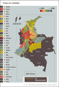 Mapa de Peajes Colombia